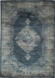 Stylerug by Navy Blue And Silver Faded Worn Overdyed Style Rug Woodwaves
