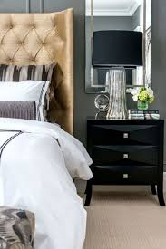 Modern Black Nightstand Modern Bedroom With Black Nightstand Refurbishing Your