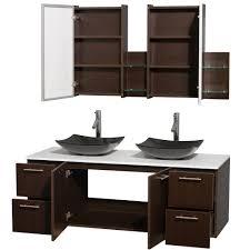 Glossy White Dresser Amare 60 Inch Double Bathroom Vanity Glossy White Finish Black