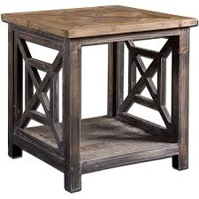 Uttermost Furniture Uttermost Spiro Wood End Table Free Shipping Today Overstock