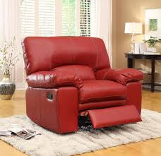 homelegance kendrick reclining sofa set red bonded leather