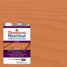 thompson u0027s waterseal 1 gal solid woodland cedar waterproofing