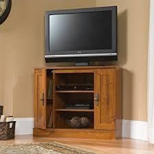 corner flat panel tv cabinet amazon com corner flat screen tv stand wood entertainment center