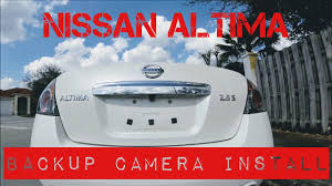 nissan altima 2015 enterprise nissan altima backup camera install youtube