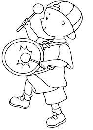 caillou marching band coloring page caillou marching band