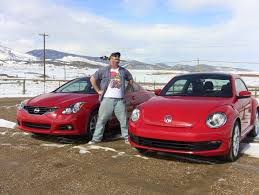 red nissan 2012 2012 vw beetle vs nissan altima coupe valentine u0027s day mashup