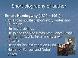 ernest hemingway life biography the old man and the sea ernest hemingway ondřej hornig ppt video