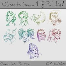 welcome to season 1 fan art caricature sketches paladins