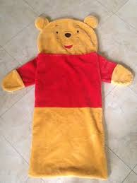 winnie pooh sleeping bag toddler body pillow head disney