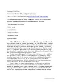 helen keller lesson plan worksheet free esl printable worksheets