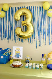 Birthday Party Decorations At Home Best 25 Minion Birthday Parties Ideas On Pinterest Minions