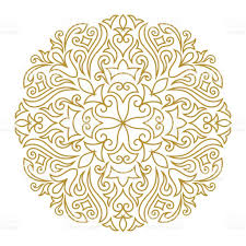 line art ornament for design template vintage element in eastern