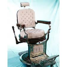 Old Barber Chair Restored Kochs Porcelain And Brass Antique Barber Chair