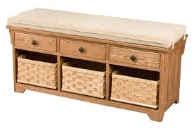 Storage Bench Seat Amish Storage Bench Wooden Entryway Benches Baskets Upholstered