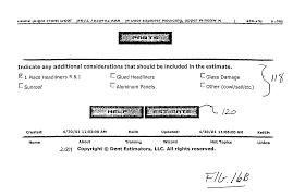 Paintless Dent Repair Estimate Sheet by Patent Us20040073434 Automobile Repair Estimation Method