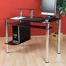 bureau informatique noir bureau informatique design en verre noir bureau ordinateur verre