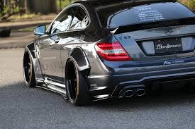mercedes ads mercedes amg c63 coupe and sedan graduate from the liberty walk