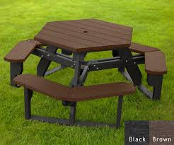 Design For Octagon Picnic Table by Hexagon Picnic Tables At American Recycled Plastic Outdoor Furniture