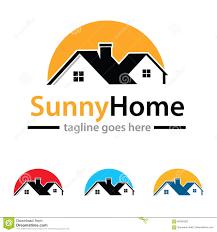 sunny home logo template design vector stock vector image 84395395