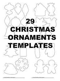 ornaments templates pdf instant diy