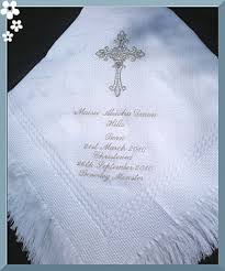 Christening Blanket Personalized Christening Blanket With Silver Cross
