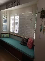 custom sewn trapezoid bay window seat cushion with cording
