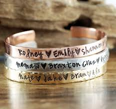 Personalized Engraved Bracelets Mommy Jewelry Hand Stamped Jewelry Engraved Jewelry And Gifts At