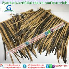 Tiki Hut Material Wholesale Plastic Palm Artificial Synthetic Palm Thatch Tiki Hut