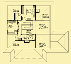 Sunroom Floor Plans by Small Cottage Plans Sun Filled Home With A Central Atrium