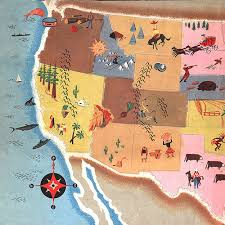 map of usa with compass vintage design california whale ship usa menswear indians