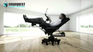 Office Chair Recliner Reclining Office Chair With Laptop Tray Youtube