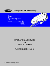carrier gen iv service manual