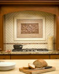 kitchen mural backsplash relief tiles those with a raised design add texture and