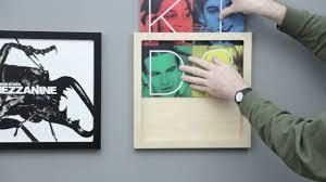 Vinyl Record Wall Mount Premium Vinyl Record Frames By Line Phono Youtube