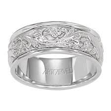 14k white gold wedding band 11 wv4309w lyric 14k white gold mens wedding band from artcarved