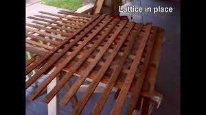 todays project lattice barriers from scratch youtube