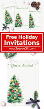 christmas cookie party invitations free holiday invitations teepee