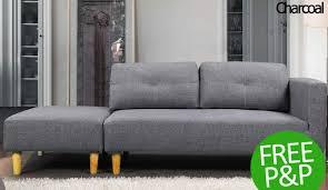 Light Grey Sofas by Monster Deals Uk Cavendish Light Grey Sofa U0026 Stool For 249