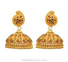 kerala style earrings kerala style gold jhumka south india jewels