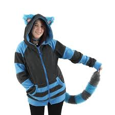 amazon com pawstar cheshire cat hoodie and furry tail combo deal