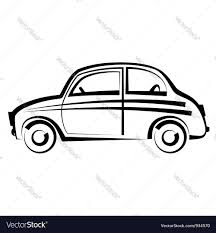 cartoon car drawing car freehand drawing icon black and white vector image