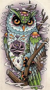 setwidth487 sugar skull owl design flickr photo