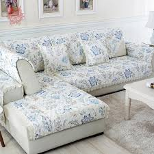 floral sofa pastoral blue coffee floral sofa cover faux linen quilting