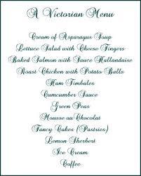 Festive Dinner Party Menu - victorian dinner menu etiquette summary victorian era