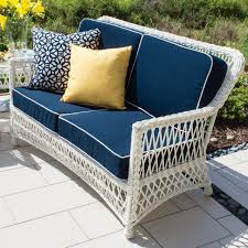 Everglades White Resin Wicker Patio Loveseat By Lakeview Outdoor - White wicker outdoor furniture