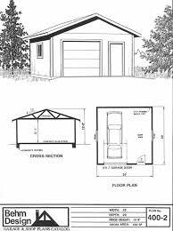 1 car garage shop plan no 400 2 by behm design 20 u0027 x 20 u0027 garage