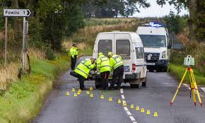 p1 crash motorcyclist dies after collision with minibus near dundee the