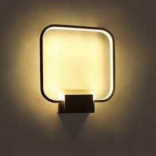applique murale pour chambre moderne de chevet applique murale à led éclairage intérieur carré