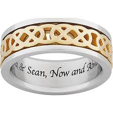 celtic knot wedding bands personalized celtic knot spinner wedding band in titanium