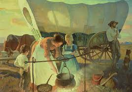 Seeking Painting Seeking The New Home Painting By Newell Convers Wyeth